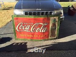 Antique coca cola sign