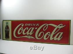 Authentic 1933 Antique Drink Coca Cola Sign In Very Good Condition
