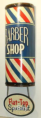 BARBER SHOP POLE Metal Oster Clippers Hair Comb Nail Polish VINTAGE STYLE SIGNS