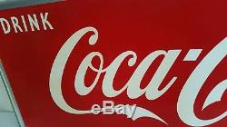 Big 1952 Drink Coca Cola Tin Sign 18 By 54 Inches