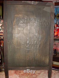 C1901 Pan-American ORANGEADE 5c Soda Fountain Cola embossed sidewalk sign V RARE