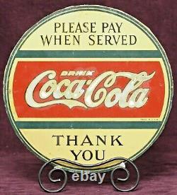 COCA-COLA ANTIQUE ADVERTISING SIGN ca 1920s