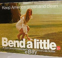 COCA COLA BOTTLERS AUTHENTIC DELIVERY TRUCK CARDBOARD POSTER SIGN 66 X 33 1970s