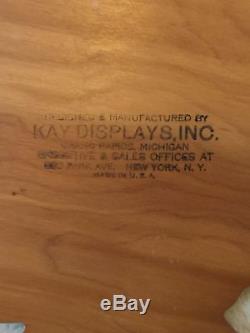COCA COLA/ COKE 1930's Wood & Metal USA MAP Kay Display Sign RARE ORIGINAL