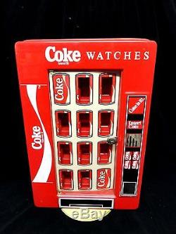 COCA COLA COKE 2 SIDED STORE WATCH DISPLAY (VINTAGE) Spinner (HOLDS 20)