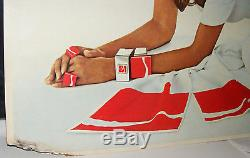 COCA COLA DELIVERY TRUCK CARDBOARD POSTER SIGN 66 X 33 RAQUEL WELCH 1970s