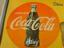 COCA COLA HARLEM GLOBETROTTERS 1950's SIGN REECE GOOSE TATUM & MARQUES HAYNES