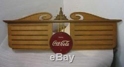 COCA COLA MENU SIGN WITH CHRISTMAS BOTTLE AND BUTTON NON PORCELAIN