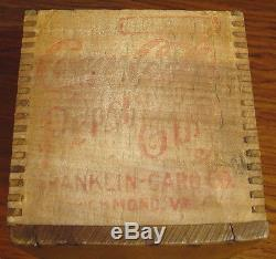 Coca-cola Pepsin Gum Crate For Franklin-caro Glass Jar The Key To Good Digestion
