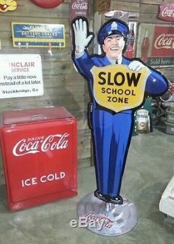 Coca-cola Policeman Sign Crossing Guard