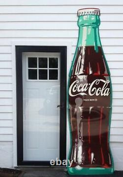 COCA-COLA SIGNS SET 9' Bottle and 3 Gigantic Sandwiches