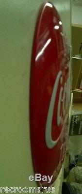 COCA COLA drink ice cold coca cola button heavy embossed metal sign coke soda