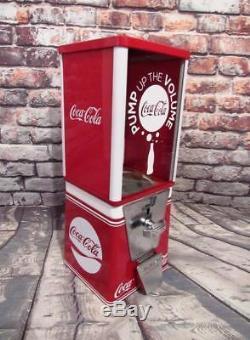 COCA COLA vintage gumball machine coin op M&M dispenser coke soda memorabilia