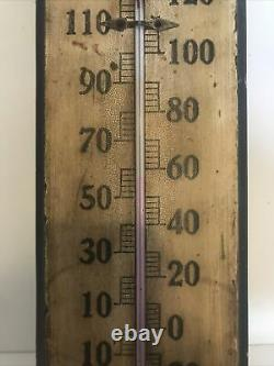 C. 1905 Vintage Coca Cola Wood Thermometer