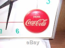 Circa 1960's Vintage Coke Coca Cola Clock Sign Pop Soda Fountain