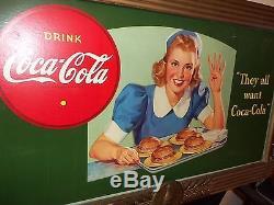 Coca Coa Cardboard Sign