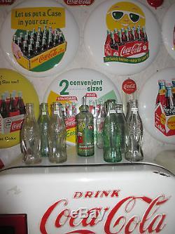 Coca-Cola 16 MINT Porcelain Button Sign Let us put a Case bottles in your car