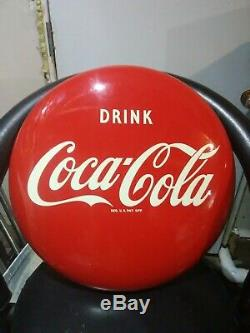 Coca Cola 16 Round Button Porcelain Sign