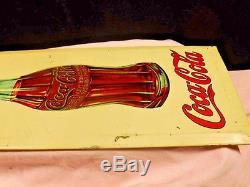Coca Cola 1910s/20s Scarce Tin Over Cardboard Sign