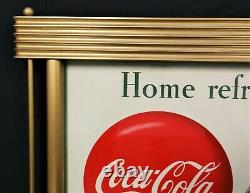 Coca Cola 1949 Gorgeous Tulip Girl Cardboard & Frame Original w Modern Updates