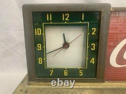 Coca-Cola 1950's Clock Light Up Counter Sign Display
