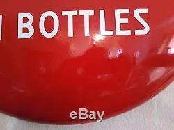 Coca Cola 1950's Porcelain 24 Button Sign Near Mint