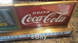 Coca Cola 1950's era lighted waterfall countertop sign