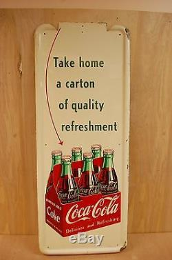 Coca Cola 1952 Pilaster Six Pack with Arrow 41 X 16