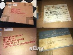 Coca Cola 1960s Pumpkin Tree Display Cardboard Die Cut 3-D Red Wing Minn Rare