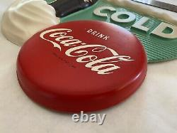 Coca Cola 1960s Vacuform Sign With Bottle