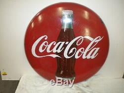 Coca Cola 24 Porcelain Button Sign