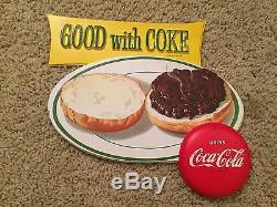 Coca Cola 3D Plastic Sign Display 1950's