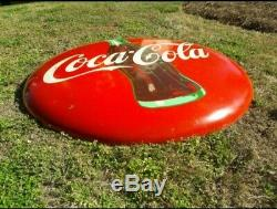 Coca Cola 48 Inch Coke Bottle Button Sign