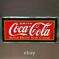 Coca Cola Advertising sign LED wall lamp light Soda Fountain neon Pop Machine