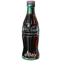 Coca-Cola Bottle Embossed Tin Metal Sign Vintage Style Diner Decor 7 x 21