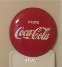 Coca Cola Bottle pilaster sign HTF in this condition withbracket & 16 Button