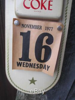 Coca-Cola Button Disc Calendar Sign 1958 Sign of Good Taste