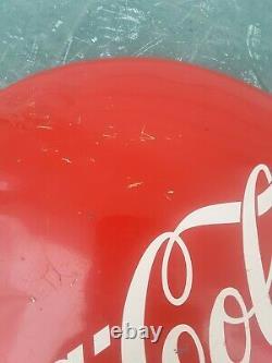 Coca Cola Button Sign, 12 Coke Button, Aluminum Coke Sign