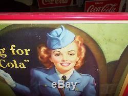 Coca Cola Cardboard Sign