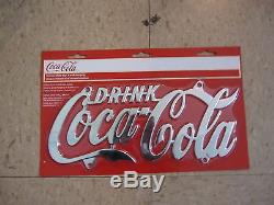 Coca-Cola Chrome Plated License Plate NEW