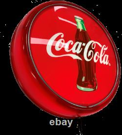 Coca Cola Coke Bottle RED LED Bar Lighting Wall Sign Light Button Man Cave Gift