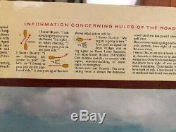 Coca Cola Coke Cardboard Sign 1960 36x20 NOS Welcome aboard nautical sailing