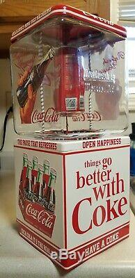 Coca Cola Coke Coin Gumball Candy Peanut Northwestern Vending Machine / Sign