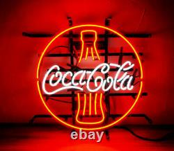 Coca Cola Coke Open Neon Sign Lamp Light 17x17 Beer Bar With Dimmer