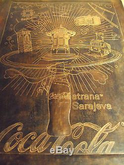 Coca Cola Coke Vintage Sarajevo Bosnia Winter Olympics 1984 Ad Sign Rare