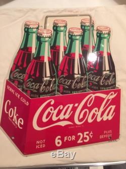 Coca Cola Die Cut Six Pack Sign
