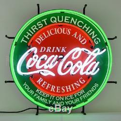 Coca-Cola Evergreen Neon Sign Drink Coke Delicious & Refreshing Soda