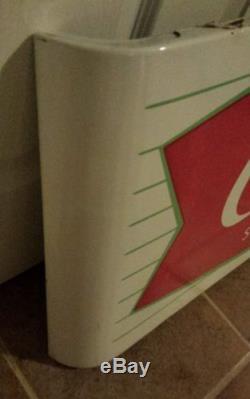 Coca Cola Excellent Porcelain Fishtail Sled sign