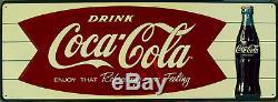 Coca-Cola Fishtail Horizontal Sign