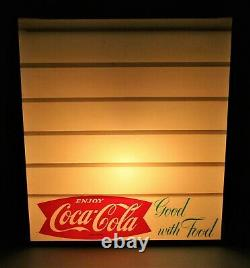 Coca Cola Fishtail Logo Lighted Menu Board Sign VERY NICE LOOKING 18 x 16